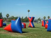 Paintball Style Inflatable Bunkers